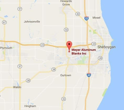 Meyer Aluminum Map - WI location