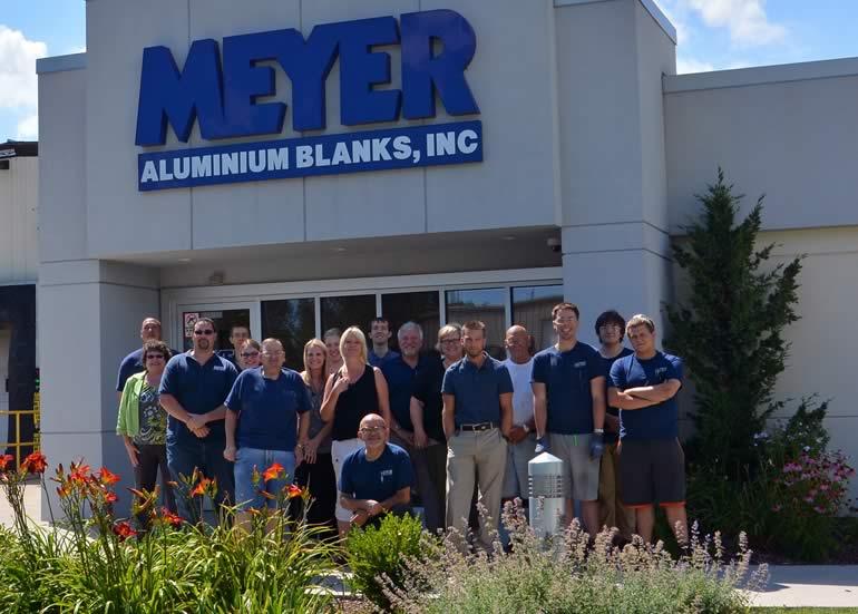 Meyer Aluminum Blanks Team Photo